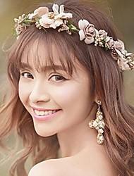cheap -Chiffon Satin Headbands Flowers Wreaths Headpiece
