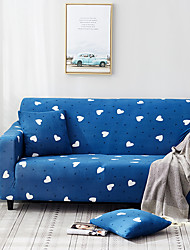 cheap -Sofa Cover blue heart Printed Polyester Slipcovers