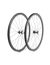 cheap -FARSPORTS 700CC Wheelsets Cycling 25 mm Road Bike Carbon Fiber Clincher / Tubeless Compatible 24/24 Spokes Others / 30 mm