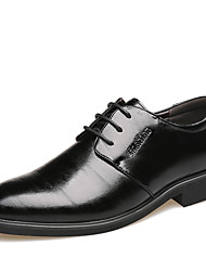 cheap -Men's Formal Shoes Leather / Patent Leather Spring & Summer Business Oxfords Breathable Black / Brown / Outdoor / Leather Shoes