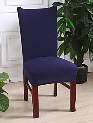 cheap -Slipcovers Chair Cover Solid Dark Navy Color/ Printed Polyester/ Highly Stretchy/ Easy to Install