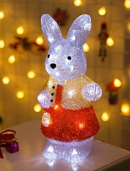 cheap -LED Creative Little Rabbit Night Light Staycation for Kids Bedroom Christmas White 220-240V