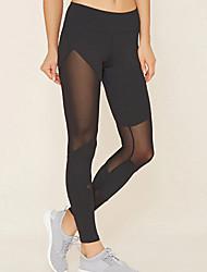 cheap -Women's High Rise Yoga Pants Fashion Mesh Elastane Running Dance Fitness Tights Leggings Bottoms Activewear Moisture Wicking Butt Lift Tummy Control Power Flex High Elasticity Skinny
