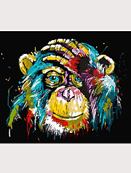 cheap -Print Rolled Canvas Prints Stretched Canvas Prints - Abstract Animals Classic Modern Art Prints