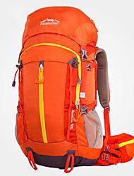 cheap -LONGSINGER 50 L Hiking Backpack Windproof Breathable Rain Waterproof YKK Zipper Outdoor Hiking Nylon Orange Green / Wear Resistance