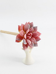 cheap -New Twine / Plastic Simulated Fleshy Plants Flowering Gem Lotus Blue Pencil Lead Ballpoint Pure Manual Winding Craft Gifts For Office & School Supplies