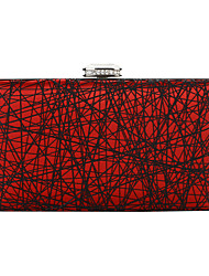 cheap -Women's Bags Polyester / Alloy Evening Bag Crystals Geometric Pattern for Wedding / Party / Event / Party Black / Blue / Red / Rhinestone Crystal Evening Bags