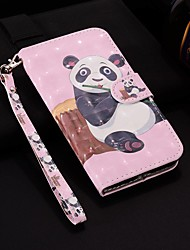 cheap -Case For Samsung Galaxy A6 (2018) / A6+ (2018) / Galaxy A7(2018) Wallet / Card Holder / with Stand Full Body Cases Panda Hard PU Leather