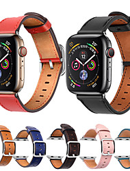 cheap -Smart Watch Band for Apple iWatch 1 pcs Modern Buckle Genuine Leather Replacement  Wrist Strap for Apple Watch Series SE / 6/5/4/3/2/1 Apple Watch Series 4 38mm 40mm 42mm 44mm