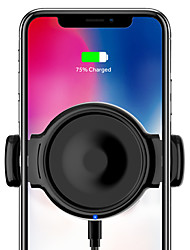 cheap -Wireless Car Charger 10W Fast Charger Car Vent Mount Phone Holder new outlet clamp with copper core coil and gear automatic memroy mechanical linkage support to most mobile phones
