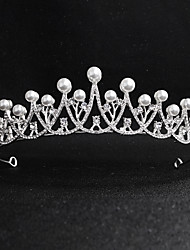 cheap -Pearl / Crystal / Alloy Tiaras with Crystal / Faux Pearl 1 Piece Wedding / Party / Evening Headpiece