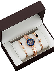 cheap -Women's Quartz Watches Analog Quartz Gift Set Elegant Chronograph Cute Casual Watch / Two Years / Stainless Steel / Japanese