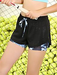 abordables -Femme Shorts de Course Running avec des Collants Cordon Des sports Cuissard  / Short Course / Running Fitness Respirable Séchage rapide Anti-transpiration Bloc de Couleur Mode Violet Vert Bleu Roi