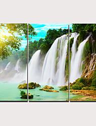 cheap -Print Stretched Canvas Prints - Landscape Traditional Modern Three Panels Art Prints