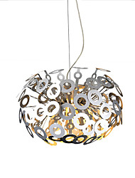 "cheap -1-Light 48(19"") Mini Style Pendant Light Globe Anodized Modern Contemporary 110-120V / 220-240V"