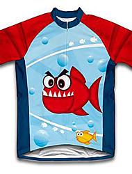 abordables -Malciklo Garçon Fille Manches Courtes Maillot Velo Cyclisme - Enfant Rouge / jaune. Rouge + bleu. Orange Animal Bande dessinée Cyclisme Maillot Hauts / Top VTT Vélo tout terrain Vélo Route Des sports