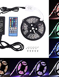 cheap -LED Strip Lights RGB Tiktok Lights 5050 SMD 10mm 300 Leds Warm White Multi-color Changing Not-Waterproof with 40 Keys RGB Remote Controller and 12V 3A Power Supply