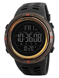 Недорогие -SKMEI Муж. электронные часы Цифровой силиконовый Черный 50 m Защита от влаги Календарь Хронометр Цифровой На каждый день На открытом воздухе - Зеленый Черный / Синий Золотистый / Красный
