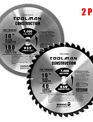 abordables -lame de scie circulaire 10 5/8 40t& 180t 2 pcs pour dewalt& makita table carbure