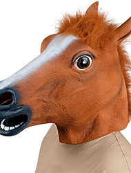 cheap -Horse Head Halloween Mask Halloween Prop Animal Mask Halloween Toy Rubber Fun & Whimsical Costume Party Creepy Funny Horse Head Costume Horror Adults' Boys' Girls'