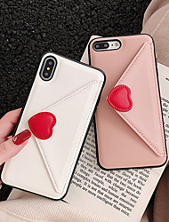 cheap -Case For Apple iPhone XS / iPhone XR / iPhone XS Max Card Holder Back Cover Heart Hard PU Leather