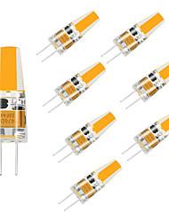 cheap -8pcs LED G4 Bulb 12V 220V COB LED 1.5 W Replace 10W Halogen lamp Chandelier Living Room Home Decoration Children Room Warm White / White