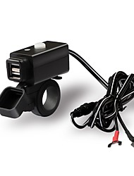 cheap -Double USB Adapter Waterproof Motorcycle Charger with Switch Button
