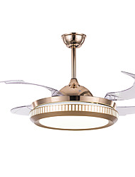 cheap -1-Light QINGMING® 108 cm Mini Style / Tri-color Ceiling Fan Metal Circle / Mini Electroplated LED / Modern 110-120V / 220-240V