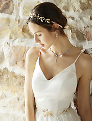 cheap -Pearl / Alloy Headbands / Hair Accessory with Faux Pearl / Petal 1 Piece Wedding / Party / Evening Headpiece