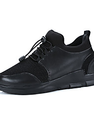 cheap -Men's Comfort Shoes Mesh Spring Casual Athletic Shoes Walking Shoes Breathable Black