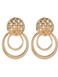 cheap -Women's Stud Earrings Hollow Out Happy Stylish Gold Plated Earrings Jewelry Gold / Rose / Gold / White For Gift Daily 1 Pair