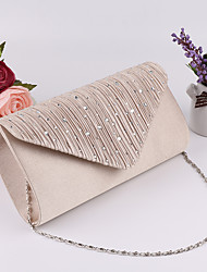 cheap -Women's Polyester Evening Bag Wedding Bags Black / Gold / Silver
