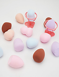 cheap -4 pcs Stretch Fashionable Design Kits Round Ellipse Drop Shape Other Material Mixed Material Concealer & Base Makeup Sponges Multifunctional washable Convenient Cosmetic Puff For Daily Cosmetic Neck