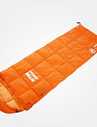 Недорогие -LONGSINGER Спальный мешок на открытом воздухе Походы Прямоугольный 8 °C Пух белой утки С защитой от ветра Сохраняет тепло Ультралегкий (UL) Меньше трения 220*72 cm Осень Зима для / Сделай это двойным