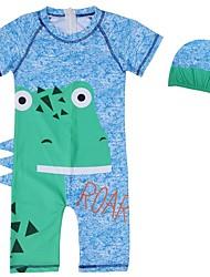 abordables -Enfants Garçon Imprimé Coton Maillot de Bain Bleu