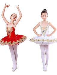 cheap -Kids' Dancewear / Ballet Dresses / Tutus & Skirts Girls' Training / Performance Spandex Appliques / Ruching / Split Joint Sleeveless Dress
