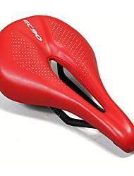 Недорогие -Седло для велосипеда Легкость Очень широкий Дышащий Полый дизайн Кожа PU Углеродное волокно Пена с памятью Велоспорт Шоссейный велосипед Горный велосипед Велосипедный мотокросс / Толстые / Толстые