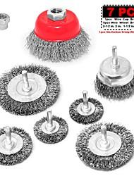 abordables -fil de noeud fileté avec brosse à roue métallique 7 pcs 3 5 / 8-11 pour dewalt& voir