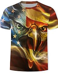 abordables -Tee-shirt Homme, 3D / Graphique / Animal Imprimé Dorée