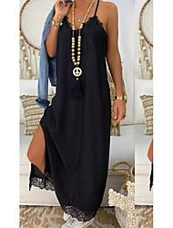 cheap -Women's Black Dress Sheath Solid Colored Strap S M Slim