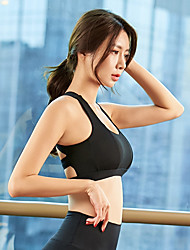 cheap -Women's Sports Bra Top Sports Bra Bra Top Open Back Yoga Running Fitness Breathable Quick Dry Sweat-wicking Padded Light Support Black Red Fashion