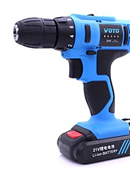 cheap -VOTO 21V Flat Push Rechargeable Hand Drill Multi-Function Household Lithium Drill Gun Type Miniature Electric Screwdriver Electric Screwdriver