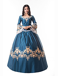 cheap -Princess Maria Antonietta Floral Style Rococo Victorian Renaissance Dress Party Costume Masquerade Women's Lace Lace Costume Blue Vintage Cosplay Christmas Halloween Party / Evening 3/4 Length Sleeve