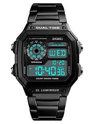 Недорогие -SKMEI Муж. Жен. Спортивные часы электронные часы Цифровой Черный / Серебристый металл / Золотистый 30 m Защита от влаги Календарь Секундомер Цифровой На каждый день Мода -