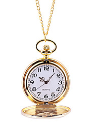 cheap -Men's Pocket Watch Quartz Gold Casual Watch Large Dial Analog Casual Outdoor - Gold
