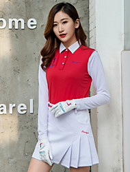 cheap -TTYGJ Women's Polos Shirt Clothing Suit Long Sleeve Tennis Athleisure Outdoor Autumn / Fall Spring Summer / Micro-elastic / Quick Dry / Breathable