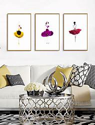 cheap -Framed Art Print Framed Set - People Floral / Botanical PS Photo Wall Art
