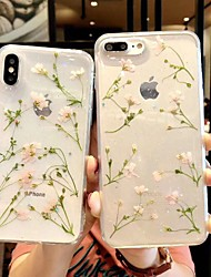 cheap -Case For Apple iPhone XS / iPhone XR / iPhone XS Max Transparent / Pattern Back Cover Transparent / Flower Soft TPU