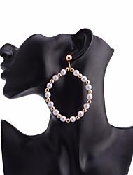 cheap -Women's Gold Pearl Drop Earrings Geometrical European Pearl Earrings Jewelry Gold For Daily 1 Pair