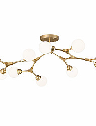 cheap -ZHISHU 10-Light 135 cm WIFI Control Chandelier Metal Glass Sputnik Industrial Painted Finishes Contemporary Chic & Modern 110-120V 220-240V E26 E27